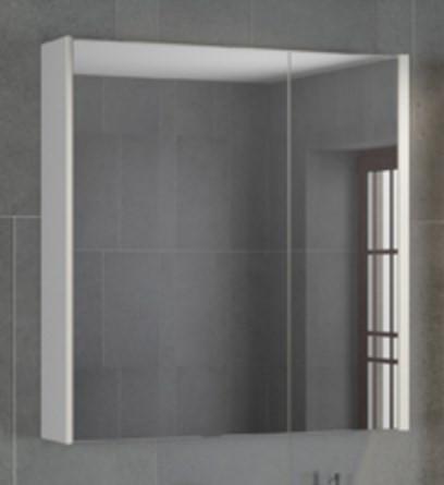 Зеркальный шкаф 75х80 см белый Comforty Женева 00004137096 зеркальный шкаф 75х80 см белый глянец comforty неаполь 00004147561