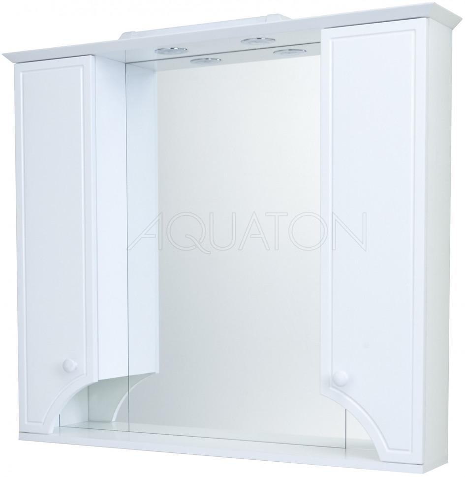 Зеркальный шкаф 95х85 см белый глянец Акватон Элен 1A218602EN010 фото