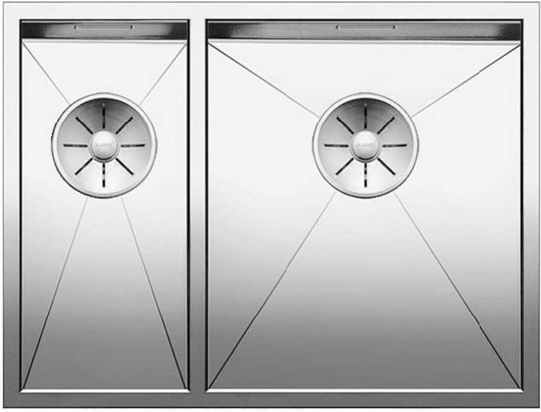 Кухонная мойка Blanco Zerox 340/180-U InFino зеркальная полированная сталь 521614 кухонная мойка blanco andano 340 340 u infino зеркальная полированная сталь 522983