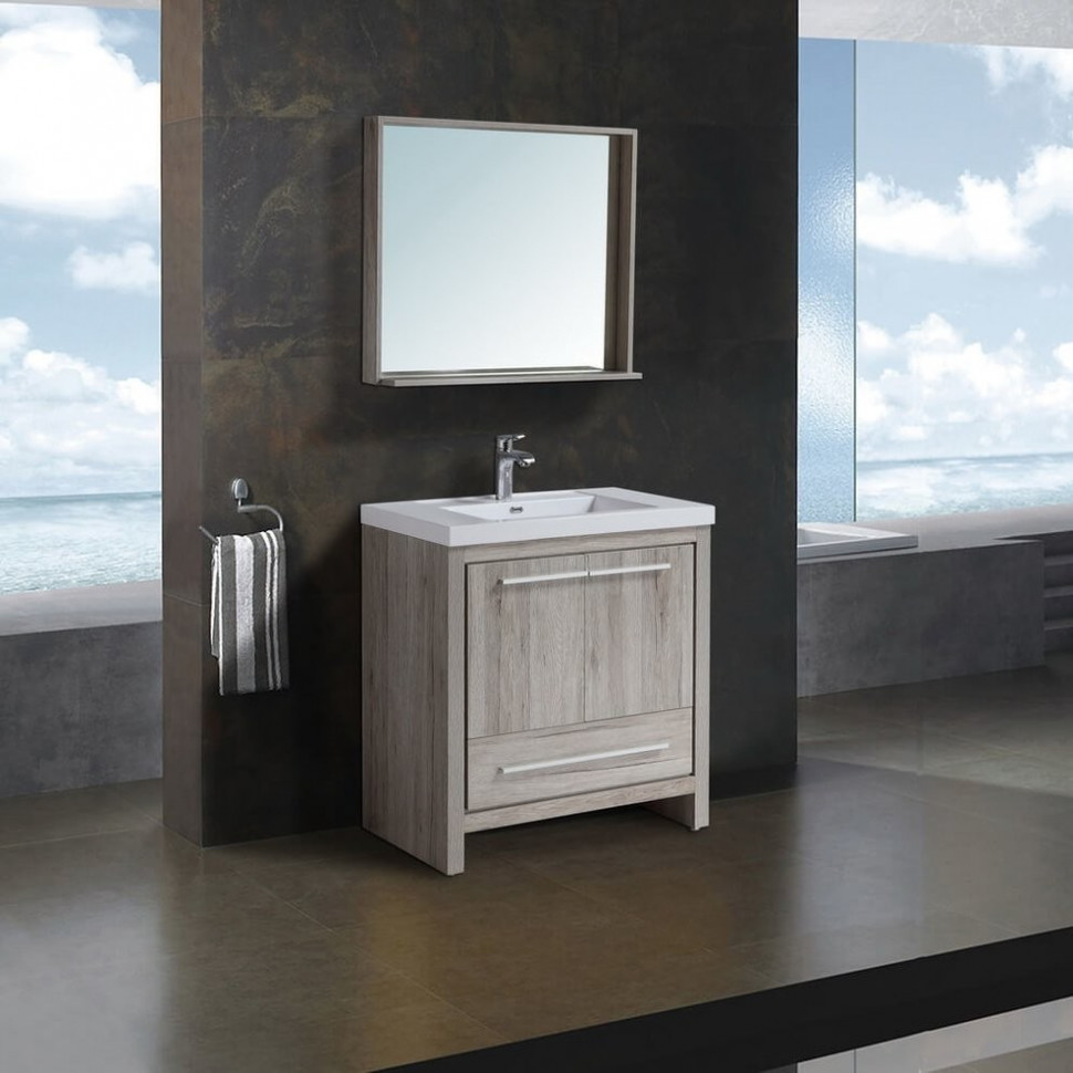 Комплект мебели дуб серебристый 80 см Black & White Country 080SK00 цена 2017