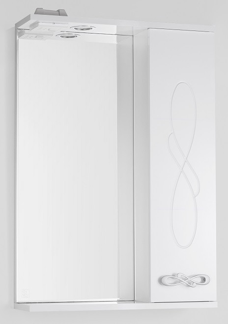 Зеркальный шкаф 55х83 см белый глянец Style Line Венеция LC-00000261