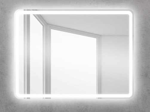 Зеркало 90х60 см BelBagno SPC-MAR-900-600-LED-BTN стоимость