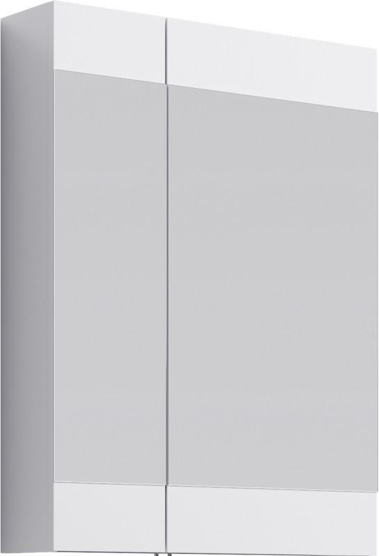 Зеркальный шкаф без подсветки белый глянец 60х80 см Aqwella Brig Br.04.06/W пенал напольный белый глянец aqwella brig br 05 04 k w