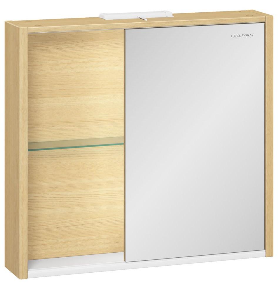 зеркальный шкаф edelform уника 100 белый с дуб гальяно 2 741 45 s Зеркальный шкаф дуб гальяно 75х69,6 см Edelform Unica 2-744-45-S