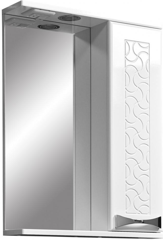 Зеркальный шкаф 50х70 см белый глянец/белый матовый Stella Polar Ванда SP-00000198