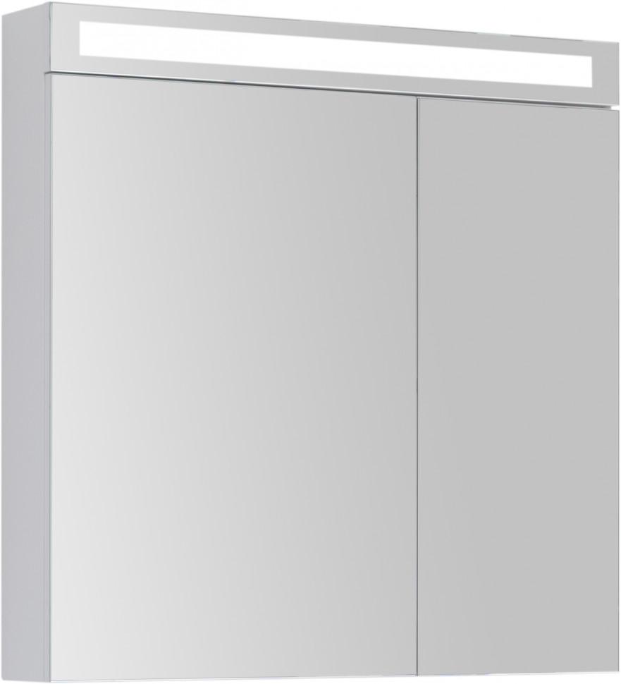 Зеркальный шкаф 80х80 см белый глянец D Max 77.9009W