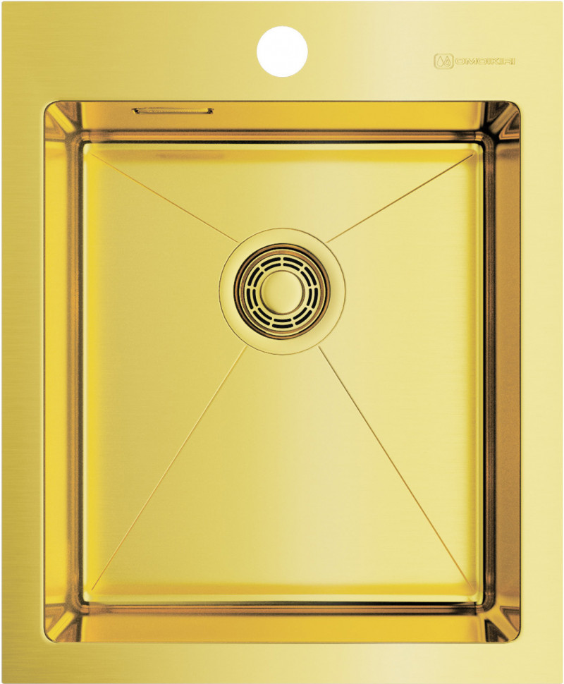 Кухонная мойка светлое золото Omoikiri Akisame 41-LG мойка кухонная omoikiri akisame 41 lg 410 510 светлое золото 4973080
