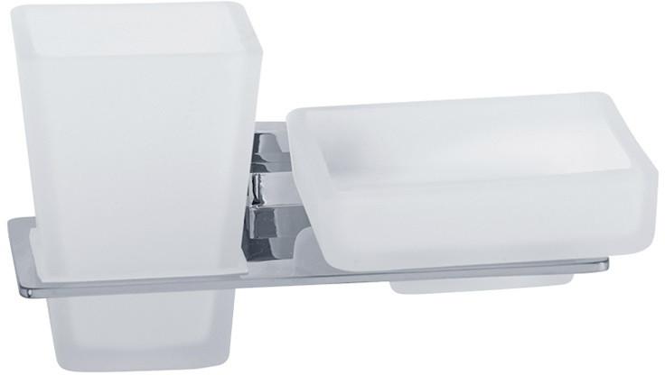 Стакан с мыльницей Veragio Ramba Cromo VR.RMB-4943.CR ершик настенный veragio ramba vr rmb 4990 cr