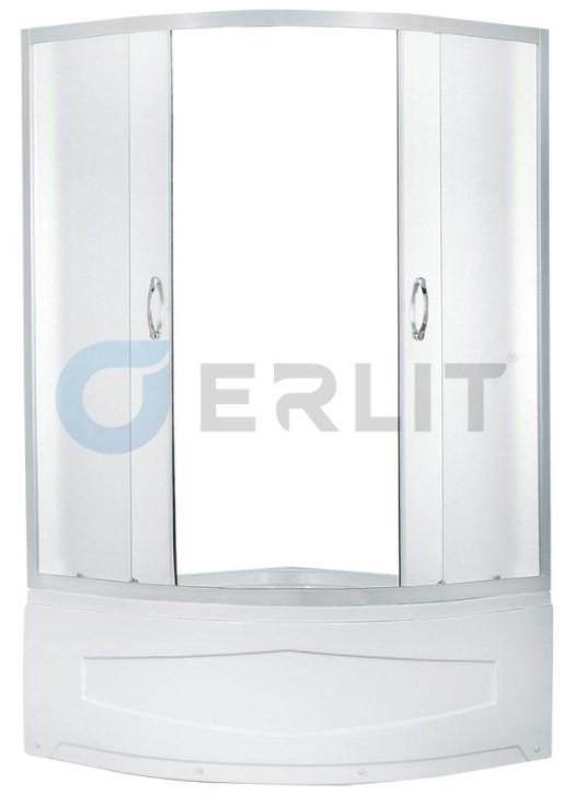 Душевой уголок с поддоном 90х90х195 см Erlit Comfort ER0509T-C3 матовое стекло фото