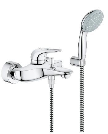 Grohe Eurostyle New 33592003 Смеситель для ванны с душевым набором цена