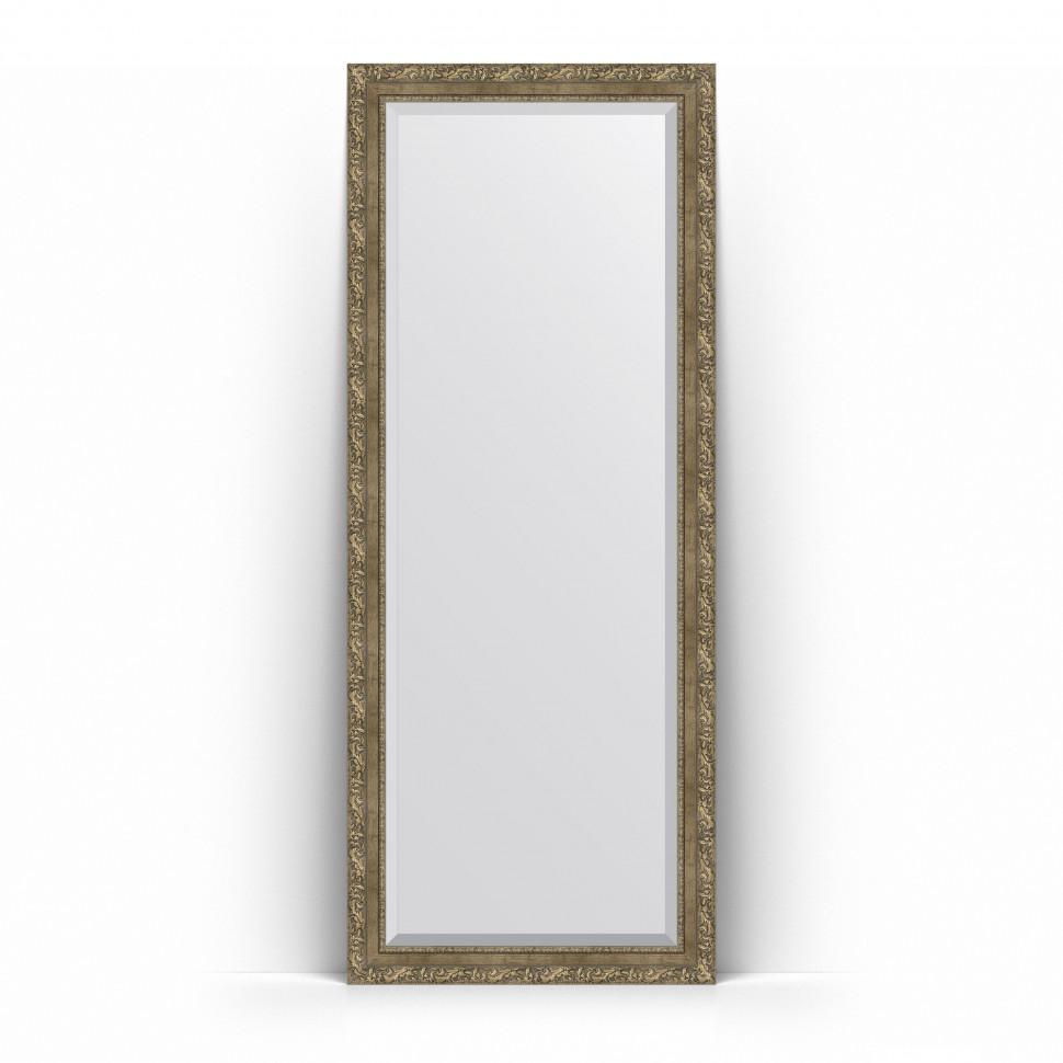 Зеркало напольное 80х200 см виньетка античная латунь Evoform Exclusive Floor BY 6115 зеркало evoform exclusive g floor 200х80 виньетка античная латунь