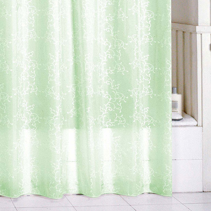 Штора для ванной комнаты Milardo Green Leaf SCMI084P штора для ванной milardo leaf 180x200 см scmi084p