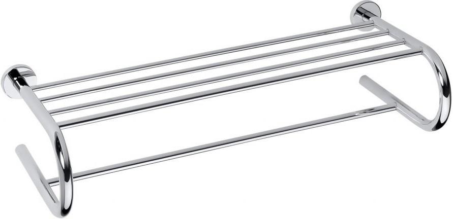 Полка для полотенец двойная 65,5 см Bemeta Omega 104205172 полка bemeta двойная угловая 280x280x380 мм 104202142