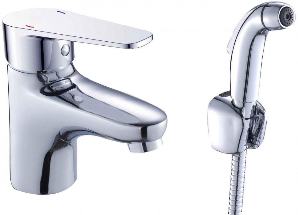 Фото - Смеситель для раковины с гигиеническим душем Orange Flipo M23-022cr смеситель для душа orange flipo m23 200cr однорычажный