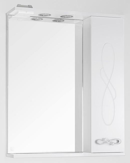 Фото - Зеркальный шкаф 65х83 см белый глянец Style Line Венеция LC-00000262 зеркальный шкаф 60х83 см белый глянец style line жасмин lc 00000040