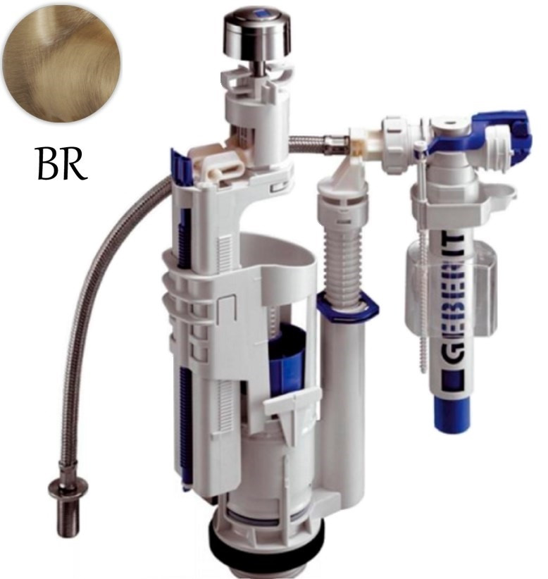 Комплект механизма слива с нижним подводом воды Geberit VA080br для бачка Globo комплект механизма слива creavit cocuk it1025