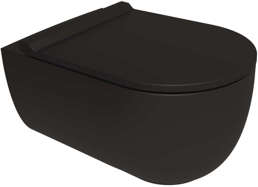 Фото - Подвесной безободковый унитаз с сиденьем микролифт Bien Vokha MDKA052N1VP0B7000 подвесной безободковый унитаз с сиденьем микролифт bien moly mlka052n1vp0w3000