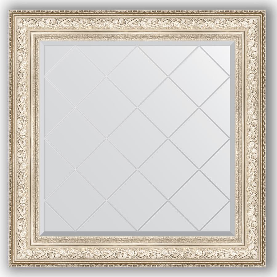 Зеркало 90х90 см виньетка серебро Evoform Exclusive-G BY 4340