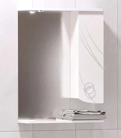 Зеркальный шкаф 55х74 см белый глянец Corozo Ультра Флора SD-00000301 зеркальный шкаф corozo орфей 50 белый sd 00000299