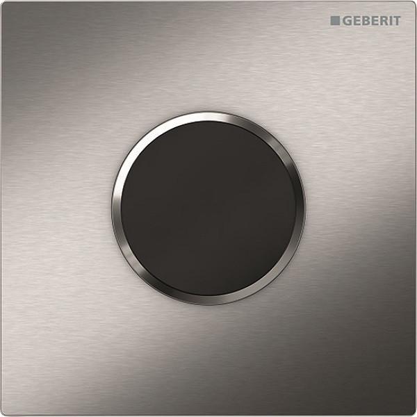 Система электронного управления смывом писсуара, питание от батарей, защитная крышка типа 10 Geberit нержавеющая сталь 116.035.SN.1