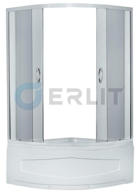 Душевой уголок с поддоном 90х90х195 см Erlit Comfort ER0509T-C4 тонированное стекло фото