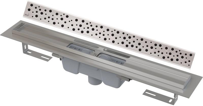 Душевой канал 544 мм глянцевый хром AlcaPlast APZ1001 Buble APZ1001-550 + BUBLE-550L фото