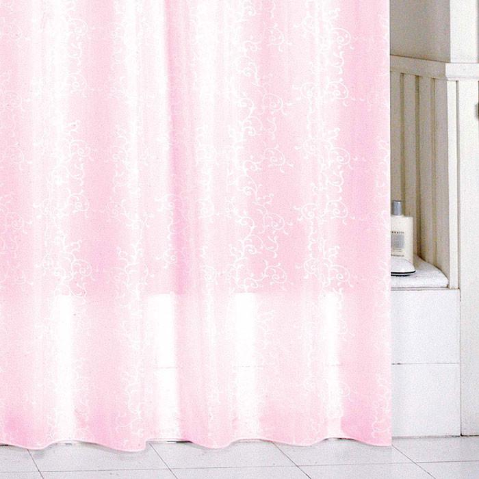 Штора для ванной комнаты Milardo Pink Leaf SCMI085P цена в Москве и Питере