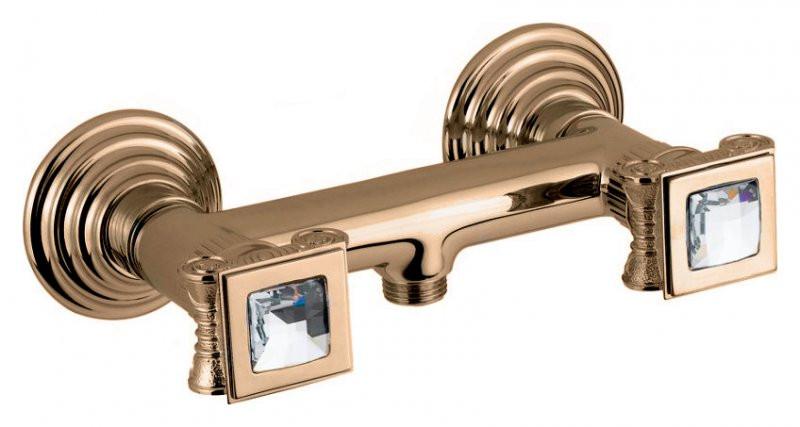 Смеситель для душа бронза, ручки swarovski Cezares Olimp OLIMP-DS-02-Sw смеситель для ванны бронза cezares olimp olimp vm 02 l