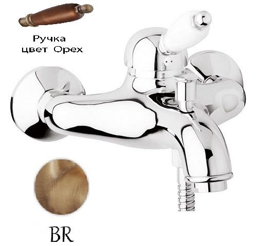Фото - Смеситель для ванны бронза, ручка орех Cezares Elite ELITE-VM-02-Nc смеситель для раковины cezares elite elite lsm1 02 nc