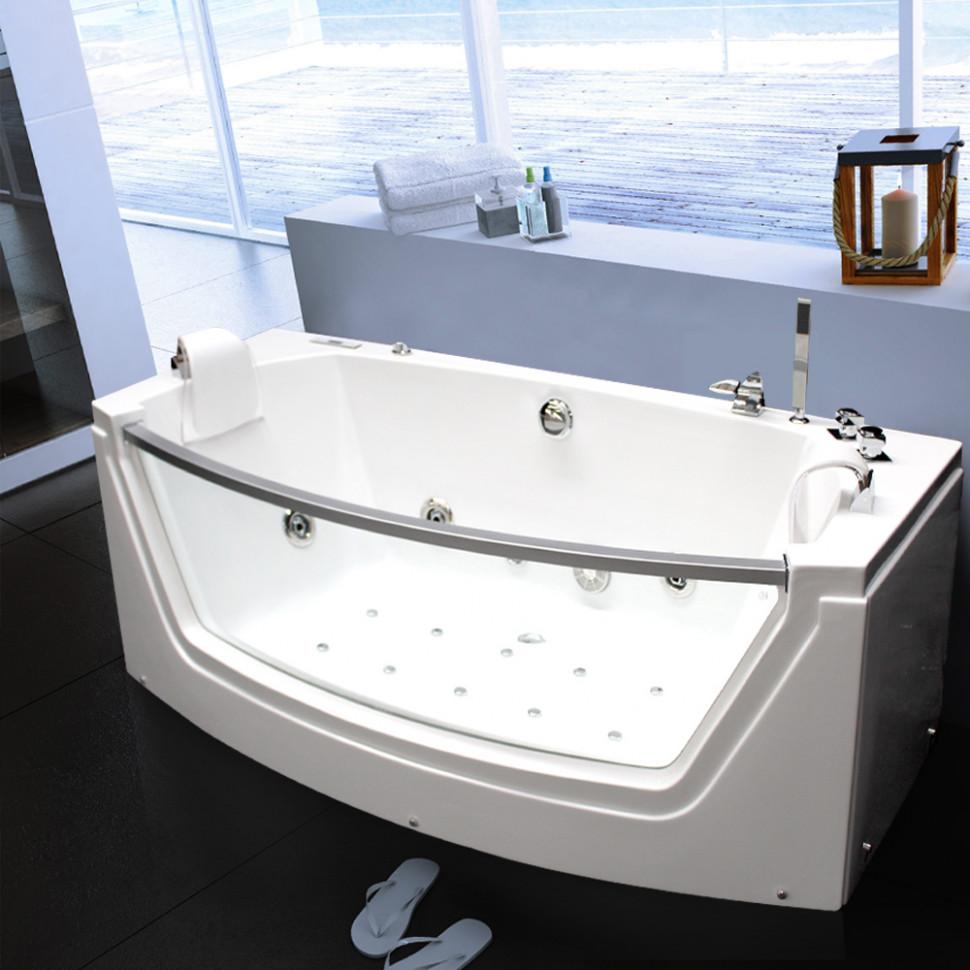 Акриловая гидромассажная ванна 175х85 см Grossman GR-17585