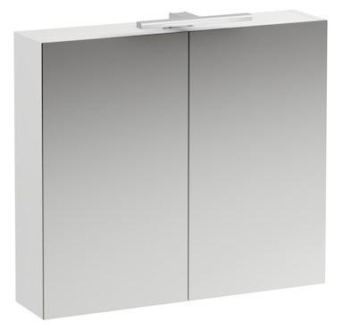 Зеркальный шкаф 80х70 см белый матовый Laufen Base 4.0280.2.110.260.1 шкаф пенал laufen pro new 35 подвесной l белый матовый