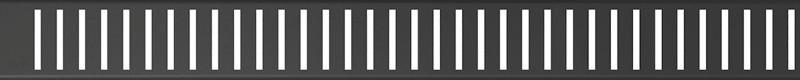 Декоративная решетка 644 мм AlcaPlast Pure Black черный матовый PURE-650BLACK