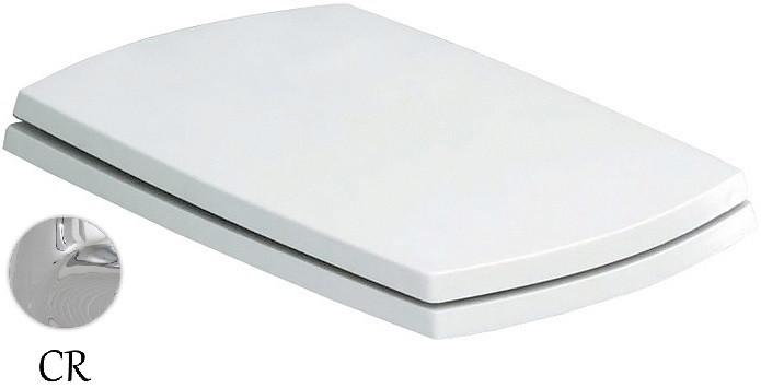 купить Сиденье для унитаза с микролифтом белый/хром Artceram Jazz JZA0060171BI/CR недорого