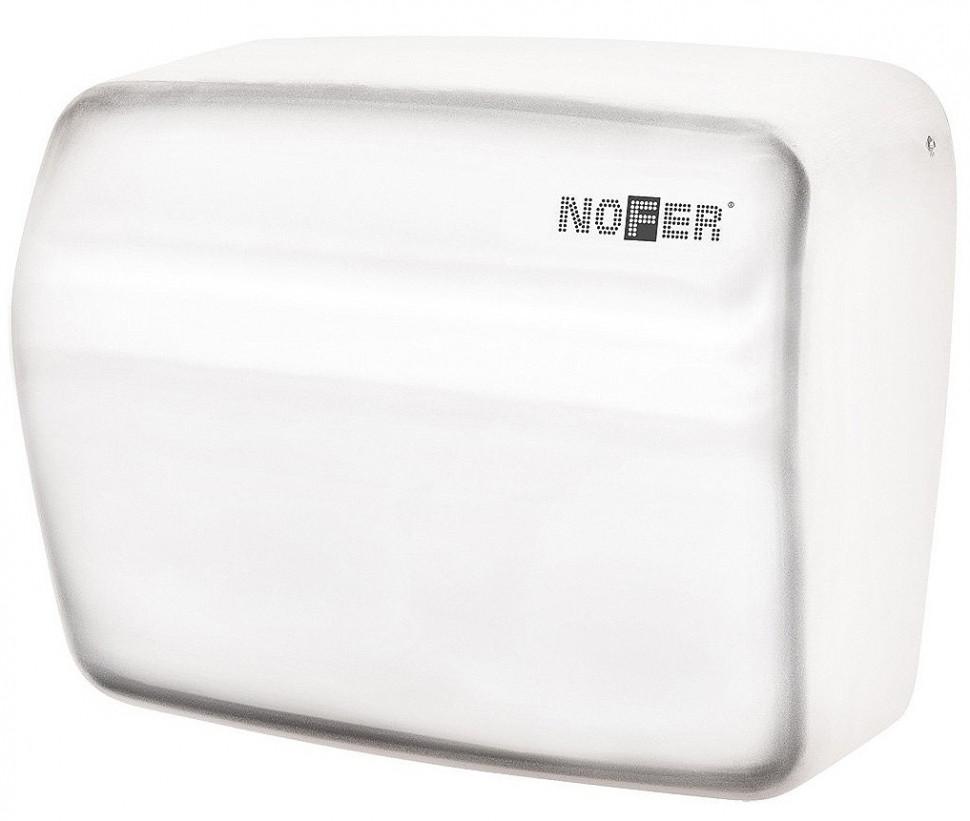 Сушилка для рук белый Nofer Kai 01251.W автоматическая сушилка для рук nofer kai 1500 w глянцевая 01251 b