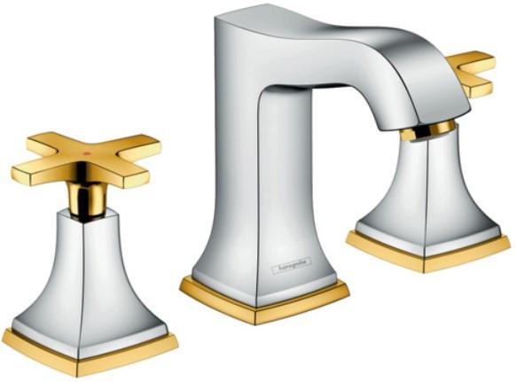 Смеситель для раковины с донным клапаном Hansgrohe Metropol Classic 31306090 смеситель для биде с донным клапаном hansgrohe metropol classic 31320000