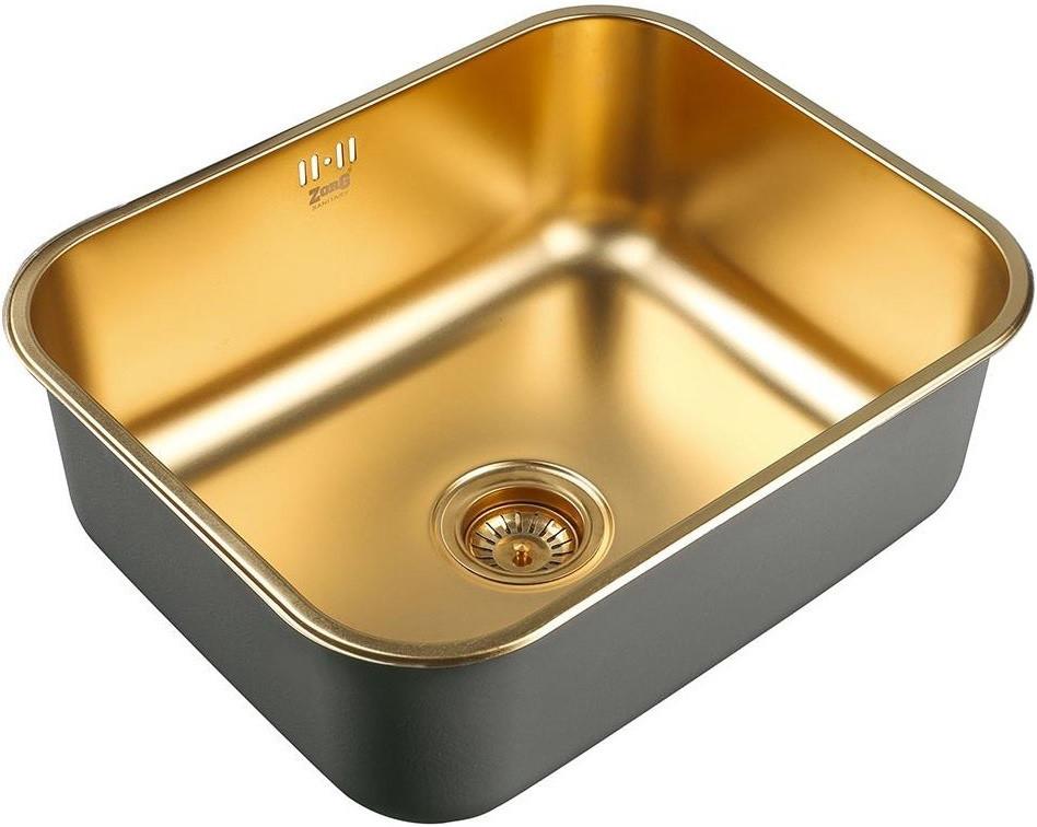 Кухонная мойка Zorg Inox PVD SZR 5343 BRONZE мойка кухонная zorg inox pvd szr 4551 bronze