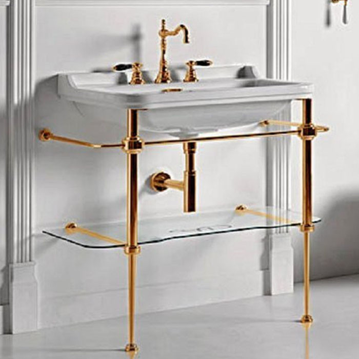 Консоль для раковины золото Kerasan Waldorf 9197K2oro.