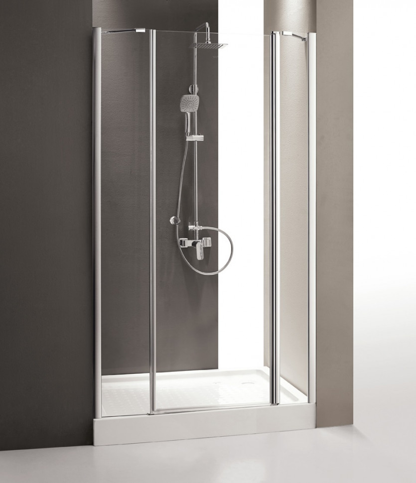 Душевая дверь распашная Cezares Triumph 150 см прозрачное стекло TRIUMPH-D-B-13-60+60/30-C-Cr-R душевая дверь в нишу cezares triumph triumph d b 13 80 60 30 c cr r