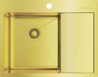 Кухонная мойка светлое золото Omoikiri Akisame 65-LG-L врезная кухонная мойка 65 см omoikiri akisame 65 lg r светлое золото
