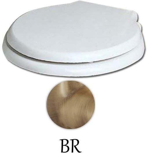 Сиденье для унитаза с микролифтом белый/бронза Azzurra Giunone-Jubilaeum 1800/Fbi/br