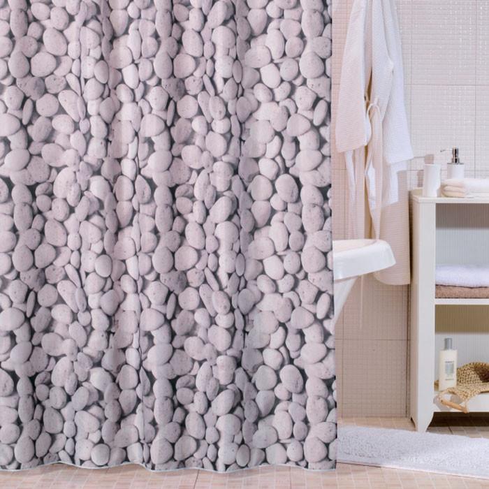 Фото - Штора для ванной комнаты Milardo Beach 660P180M11 шторка для ванной комнаты milardo brick wall 533v180m11