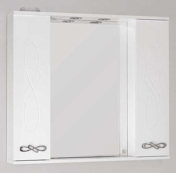 Фото - Зеркальный шкаф 90х83 см белый глянец Style Line Венеция LC-00000264 зеркальный шкаф 60х83 см белый глянец style line жасмин lc 00000040