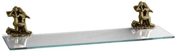 Полка стеклянная 60 см бронза Art&Max Romantic AM-0813-B