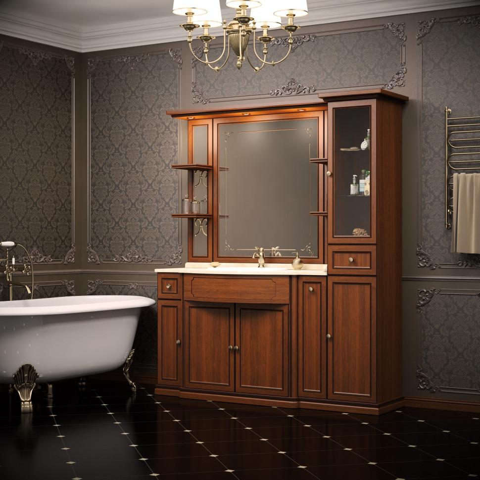 Комплект мебели светлый орех темная патина 174 см Opadiris Корсо Оро KORSOORO7P10