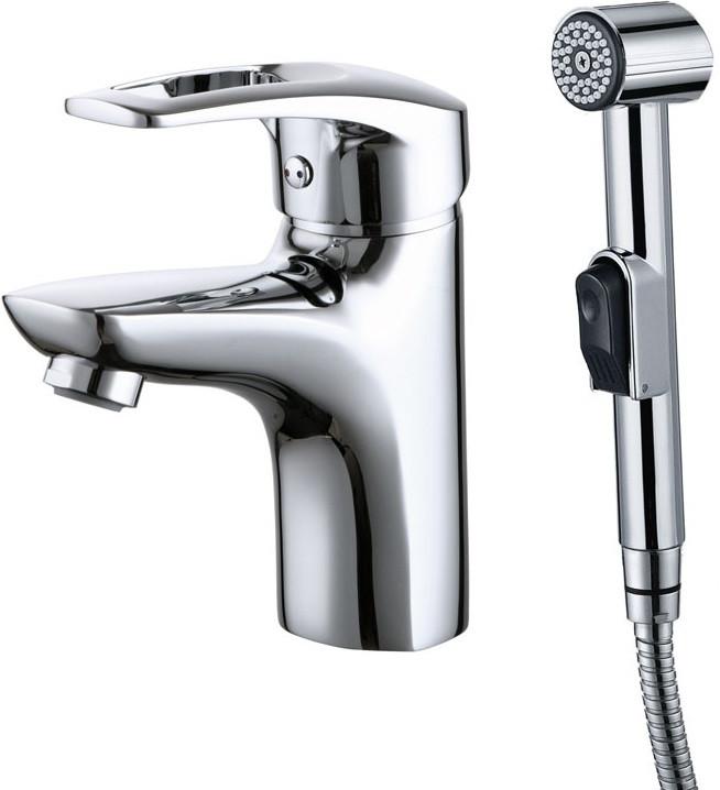 Смеситель для раковины с гигиеническим душем IDDIS Carlow Plus CRPSB00i08 смеситель для раковины с гигиеническим душем iddis carlow plus crpsb00i08