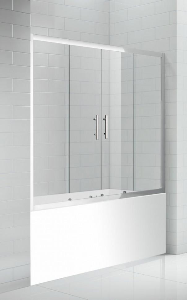 Шторка для ванны Cezares Eco 170 см прозрачное стекло ECO-O-VF-2-170/145-C-Cr