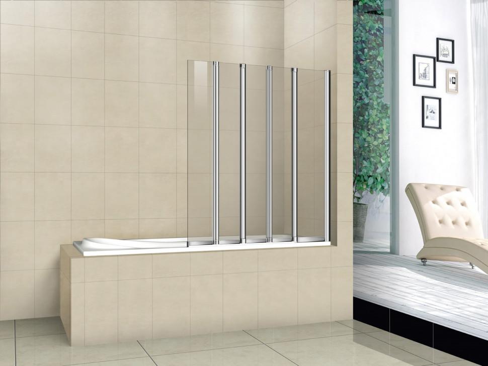 Шторка для ванны Cezares Pratico 120 см текстурное стекло PRATICO-V-5-120/140-P-Cr-R шторка для ванны cezares pratico v 5 120 140 p cr матовое стекло профиль хром l левая
