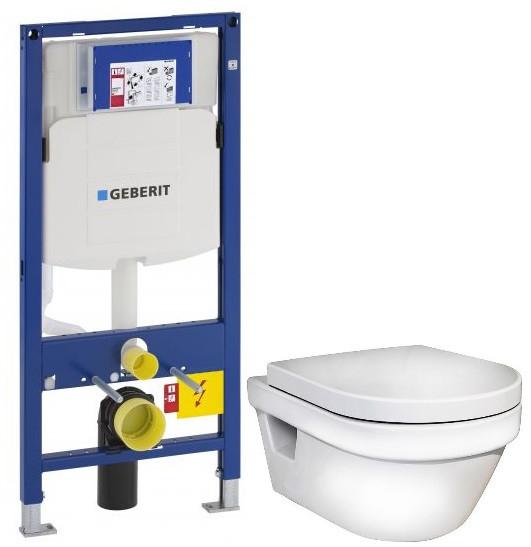 Комплект подвесной унитаз Gustavsberg Hygienic Flush 5G84HR01 + система инсталляции Geberit 111.300.00.5 чаша унитаза подвесная gustavsberg hygienic flush wwc 5g84hr01 с сиденьем микролифт с горизонтальным выпуском