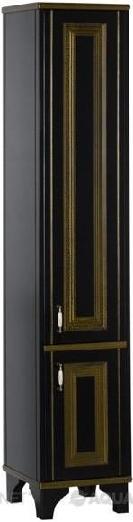 цена на Пенал напольный черый/золото Aquanet Валенса 00180044