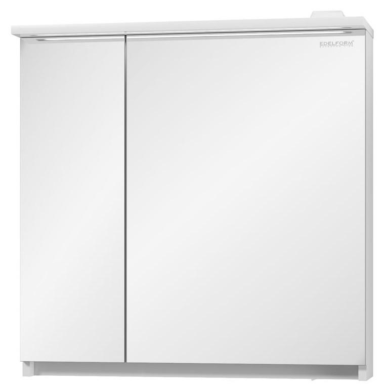 зеркальный шкаф edelform уника 100 белый с дуб гальяно 2 741 45 s Зеркальный шкаф белый глянец 70,9х71,1 см Edelform Amata 2-789-00-S